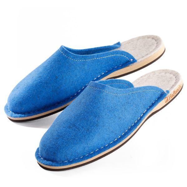 Sommer-Filzpantoffel blau