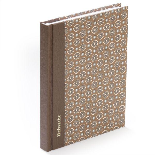 Notizbuch gemustert - braun