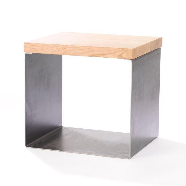 Hocker – Multifunktionswürfel (1 Stahlwürfel + Brett klein)